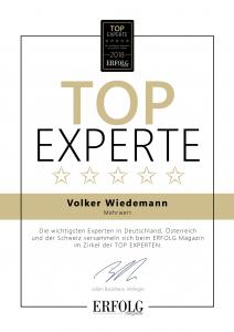 Erfolg Magazin TOP Experte Mehrwert Volker Wiedemann Erfolg-Magazin